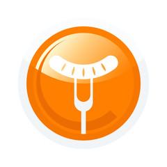 wurst gabel symbol zeichen restaurant