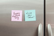 Happy Mothers Day Sticky Note on Refrigerator