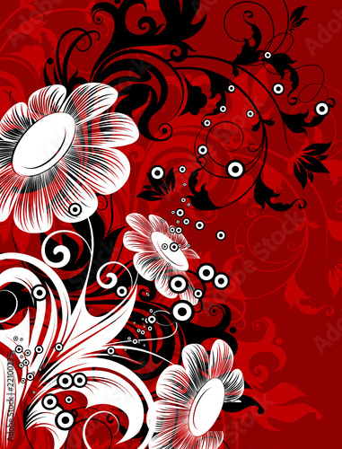 Floral abstract illustration