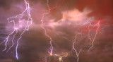 Composite abstract picture of Lightning - 22103644