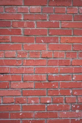 wall of the house of red brick