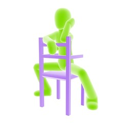 sitting_C_green