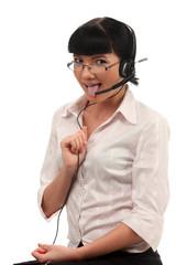 Call center operators tongue fitness