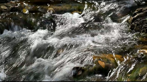 Running water in the Carpathians Mountains
