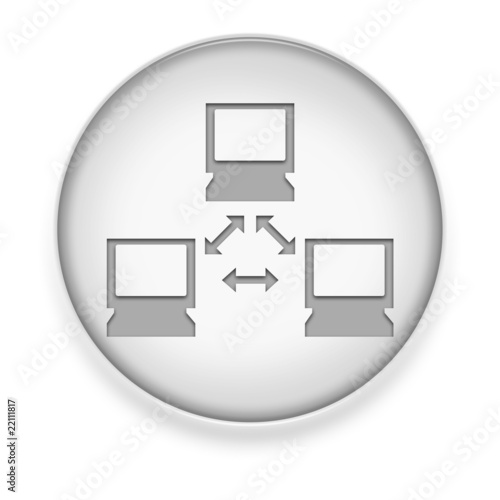 "White Button / Icon ""Network"""