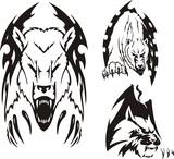 Two polar bears and the big cat. Tribal predators. poster