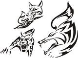 Fox, lynx and wolf. Tribal predators. poster