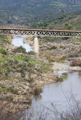 bridge over river Vascão
