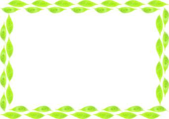 葉の二重フレーム