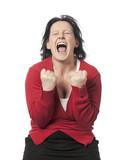 jeune femme crise de colère rage poster