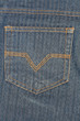Pocket in denim material