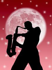 Sassofonista nella luna