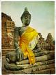 Quadro Buddha in old Ayutthaya