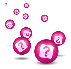 Question icon - pink