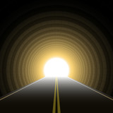 Car tunnel. Vector. poster