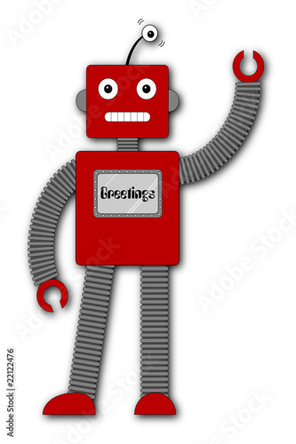 Robi the Retro Robot - Greetings