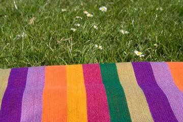 Rainbow picnic rug