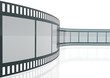 Wavy Film Strip Isolated On White Background
