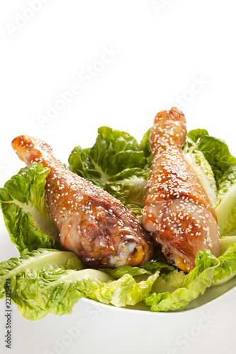 caramelized chicken thighs with sesame