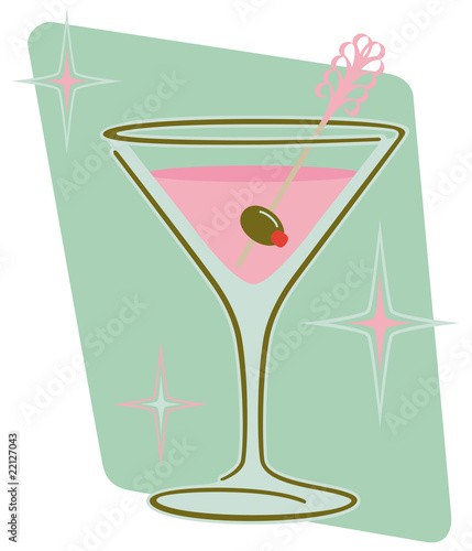 Retro Martini Glass