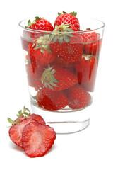 Vaso con fresas