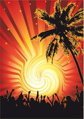 Beachparty Funky Sun
