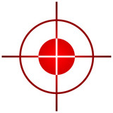Sniper target sight or scope poster