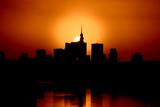 Fototapety Krwisty zachód słońca nad Warszawą 3