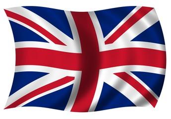 Grosse wehende Fahne Großbritannien