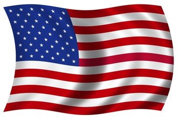 Grosse wehende Fahne USA
