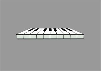 piano keys in 3d