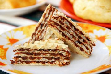 Sweet waffle cakes