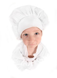 Child Dressed as a Young Aspiring Chef poster