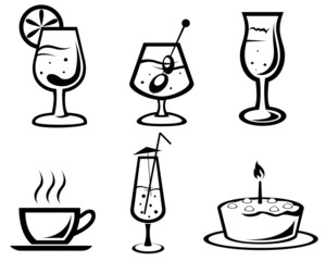 Cocktail and drink symbols
