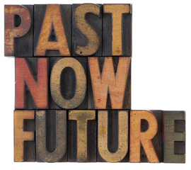 past, now, future - time concept