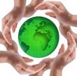 Globe in human hands