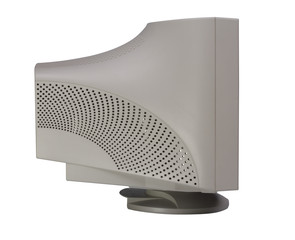 Monitor. Screen - blank black object. Isolated object