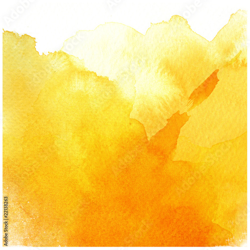 great yellow watercolor background - 22138263