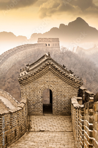 Staande foto Chinese Muur Grande muraille de Chine - Great wall of China, Mutianyu