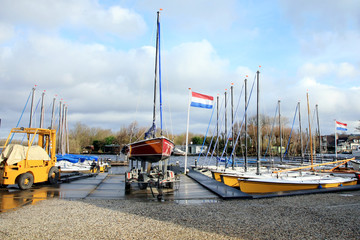 Recreational sailing boats in Netherlands