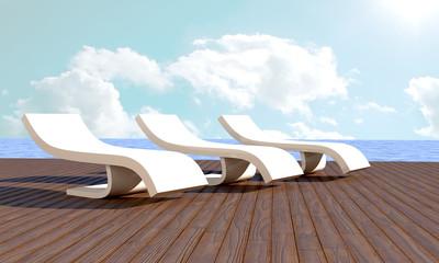 Chaise longue Resort