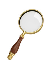 Antique gold magnifier