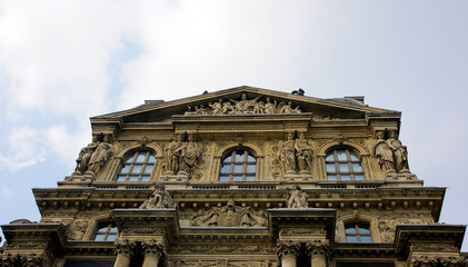 Building of the Louvre Museum