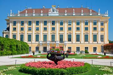 Flower bed infront of Schonbrunn Palace