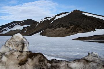 Volcan glaciar