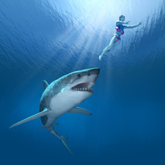 Shark Attack! - 3D render