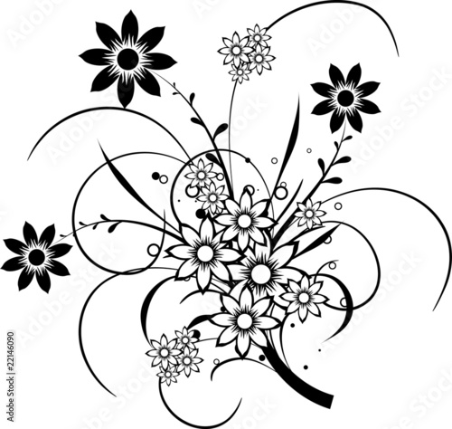Floral elements for design, vector © Tolchik