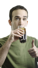 Man Drinking Pop