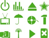 green web icon. vector