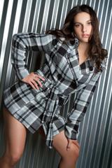 Fashion Girl Wearing Jacket